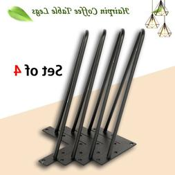 """14"""" 18"""" 28"""" Hairpin Table Legs Set of 4 Metal Solid Iron 2 R"""