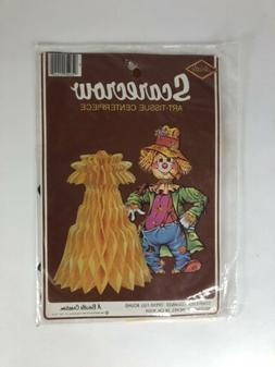 1985 NIP Beistle Scarecrow And Haystack Table Decor
