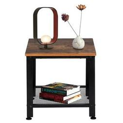 2-Tier End Table Side Table Accent Shelf Storage Living Room
