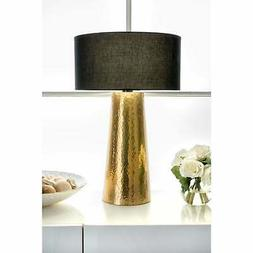 21 layla aluminum cotton shade table lamp