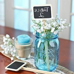 24 Mini Wood Chalkboard Stakes for Wedding and Party Table M