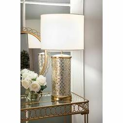 Watch Hill 25-inch Ava Mosaic Cotton Shade Table Lamp