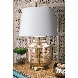 26 sophia glass cotton shade gold table