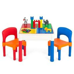 Best Choice Products 3-in-1 Kids Activity Table Set Building