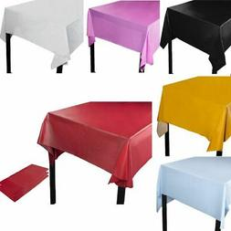 3-Pack Plastic Rectangular Tablecloth Table Cover For Weddin