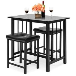 Best Choice Products 3-Piece Counter Height Dining Table Set