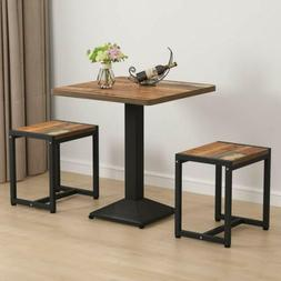 Tribesigns Square Bistro Table Set w/ Stools for Kitchen Bal