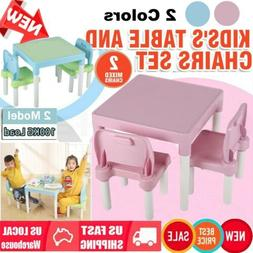 3Pcs Table & Chairs Set for Children Kids Boys and Girls Stu