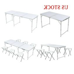4/6FT Portable folding table Aluminum Party Picnic Outdoor D