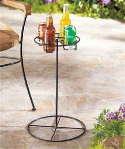 4 CAN OR BOTTLE HOLDER OUTDOOR DRINK BEVERAGE TABLE FOR BEAC