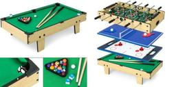 Best Choice Products 4-in-1 Game Table with Pool Billiards,