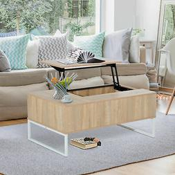 """43"""" Lift Top with Storage Coffee Table Modern Wood Living Ro"""