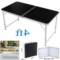 4FT Folding Table Indoor Outdoor BBQ Portable Picnic Party C