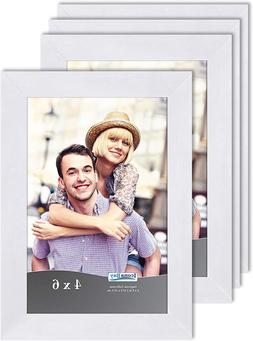 4x6 picture frame set white 4 pack