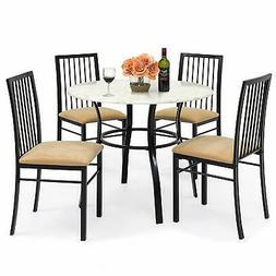 5 Piece Dining Table Set Chairs Kitchen Room Furniture  Come
