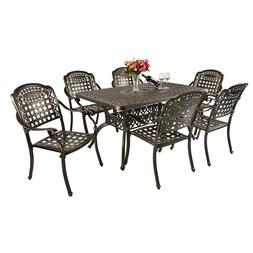 5 Piece Outdoor Patio Furniture Dining Set All-Weather Cast