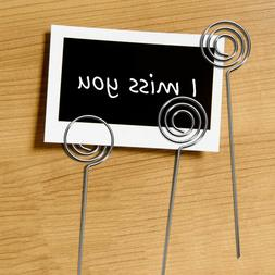 50 Pcs Photo Clips Metal Practical Table Card Holders for Ho