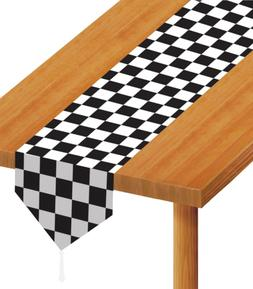 Beistle 54100 Printed Checkered Table Runner, 11-Inch by 6-F