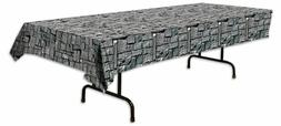 "Beistle 54535 Stone Wall Tablecover, 54"" X 108"""