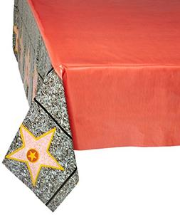 """Beistle 57344 Carpet """"Star"""" Tablecover, 54 by 108-Inch, Red"""