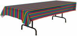 """Beistle 58225 Fiesta Table Cover, 54"""" X 108"""", Multicolor"""