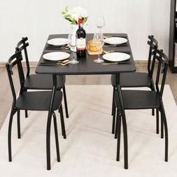 5pcs Home Kitchen Dining Room Furniture Set Dining Table and