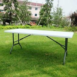 6'Portable Folding Plastic Table In/Outdoor Picnic Party Din