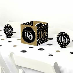 Big Dot of Happiness  60th Birthday - Gold - Birthday Party