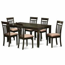 7  Pc  Dining  room  set  for  6-Table  with  Leaf  and  6