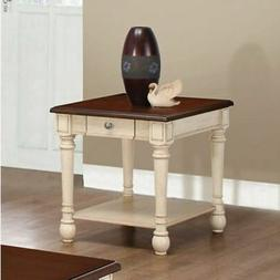 Coaster Home Furnishings 704417 End Table Dark Brown/Antique
