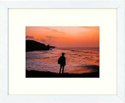 Golden State Art, 8x10 White Photo Frame for Wall Hanging/Ta