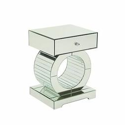 Addison Mirrored Accent Table by Christopher Knight Home Mir