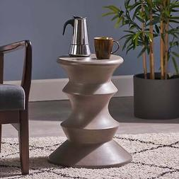 Adilynn Side Table by Christopher Knight Home Light grey