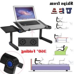 Adjustable Folding Laptop Table Lap Desk Bed Computer Tray S