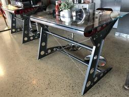 Aircraft inspired Aluminum Wing Table for Office Dining Rest
