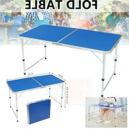 Aluminum Folding Table 4' Portable Indoor Outdoor Picnic Par