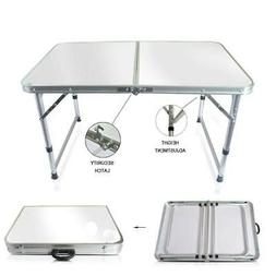 Aluminum Folding Table 4'Portable Indoor Outdoor Picnic Part