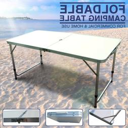 Aluminum Roll Up Table Portable Folding In/Outdoor Picnic Pa