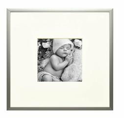 Aluminum Silver Photo Frame with Real Glass 8x8-Table top Di