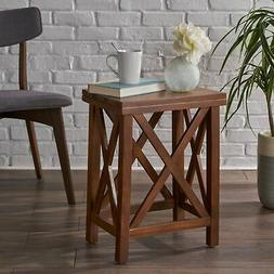 Amali Acacia Accent Table by Christopher Knight Home Natural