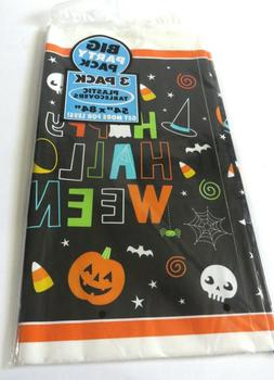 Amscan Halloween Plastic Tablecloth 3 pack big party pack 54