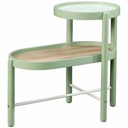 Sauder Anda Norr Metal End Table in Sage Green
