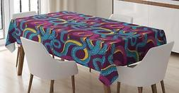 Animal Art Tablecloth Ambesonne 3 Sizes Rectangular Table Co