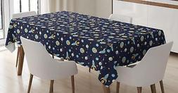 Astronaut Tablecloth Ambesonne 3 Sizes Rectangular Table Cov