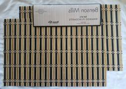 "Benson Mills  Bamboo placemat  12""x18  table  protector  set"