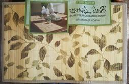"""Benson Mills  Bamboo placemat Bali Leaves 12""""x18"""" table  pro"""