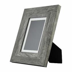 Bauhaus Table-Top 5x7 Modern Gray Barnwood Standing Picture