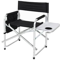BCP Aluminum Folding Picnic Camping Chair W/ Table Tray Cup