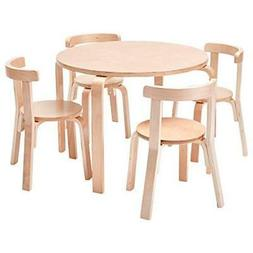 Bentwood Preschool Activity Table and Chair Set for Kids in