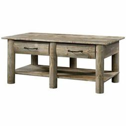 Sauder Boone Mountain Contemporary Wood Coffee Table in Rust